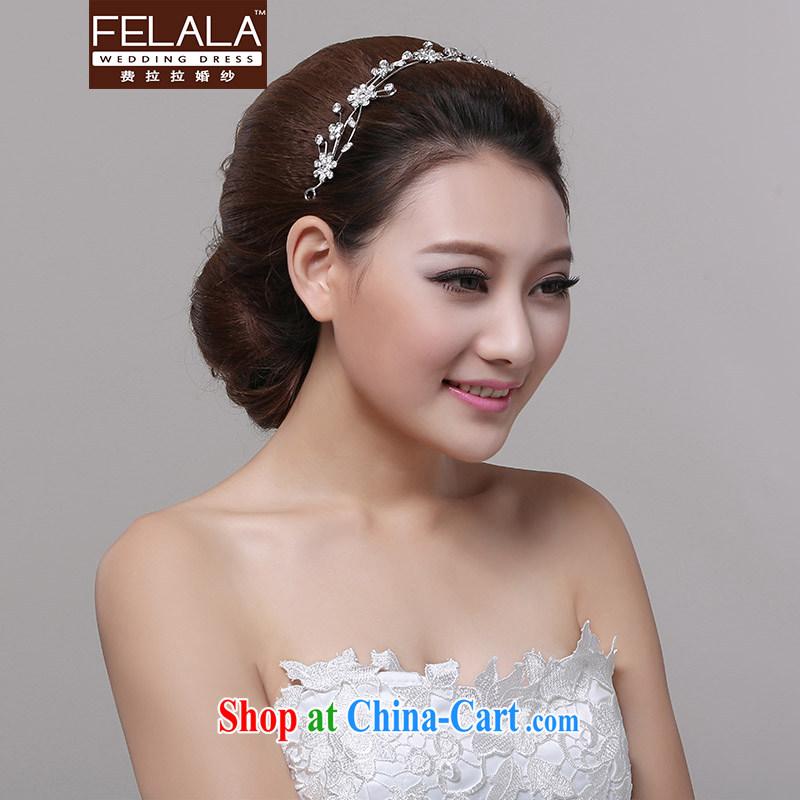 Ferrara 2013 new wedding dresses bridal head-dress Korean-style Drill Down marriage flowers adorned the banished ornaments