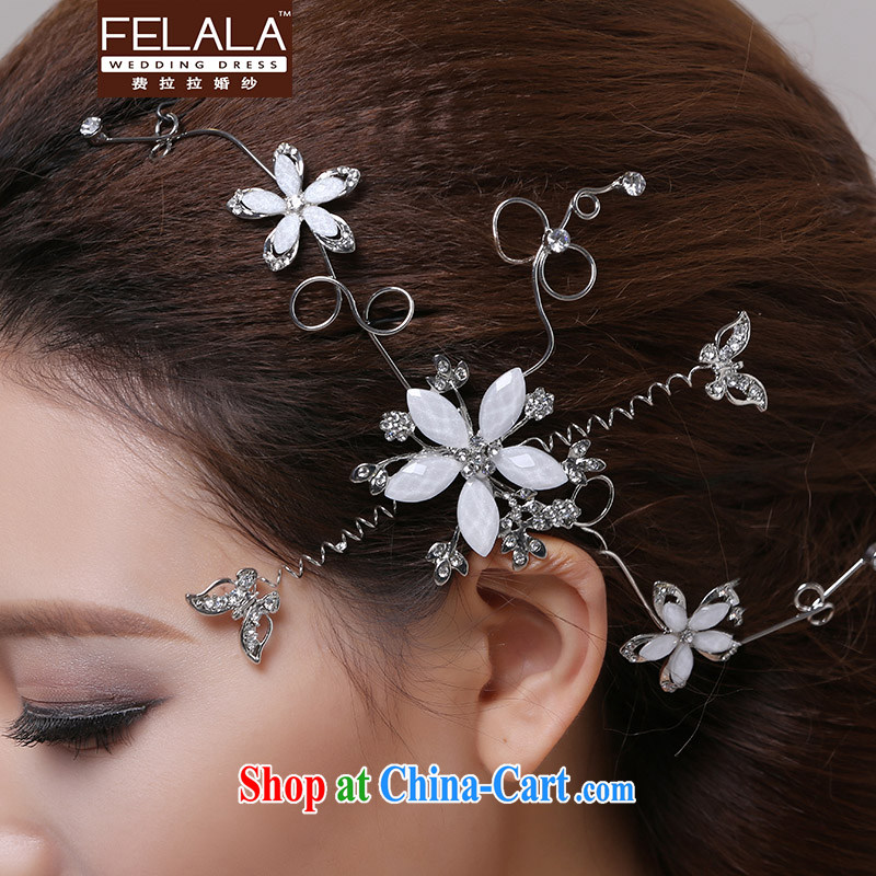 Ferrara 2013 new bride and flower head-dress wedding dresses white Pearl water drilling flowers decorated ornaments