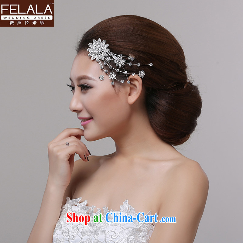 Ferrara 2015 new sweet Sun Flower water drill take marriages styling hair combed with ornaments ornaments