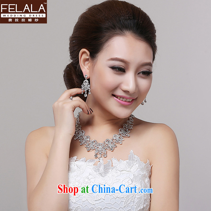 Ferrara 2015 new marriage wedding dresses necklaces earrings two-piece bridal wedding accessories accessories