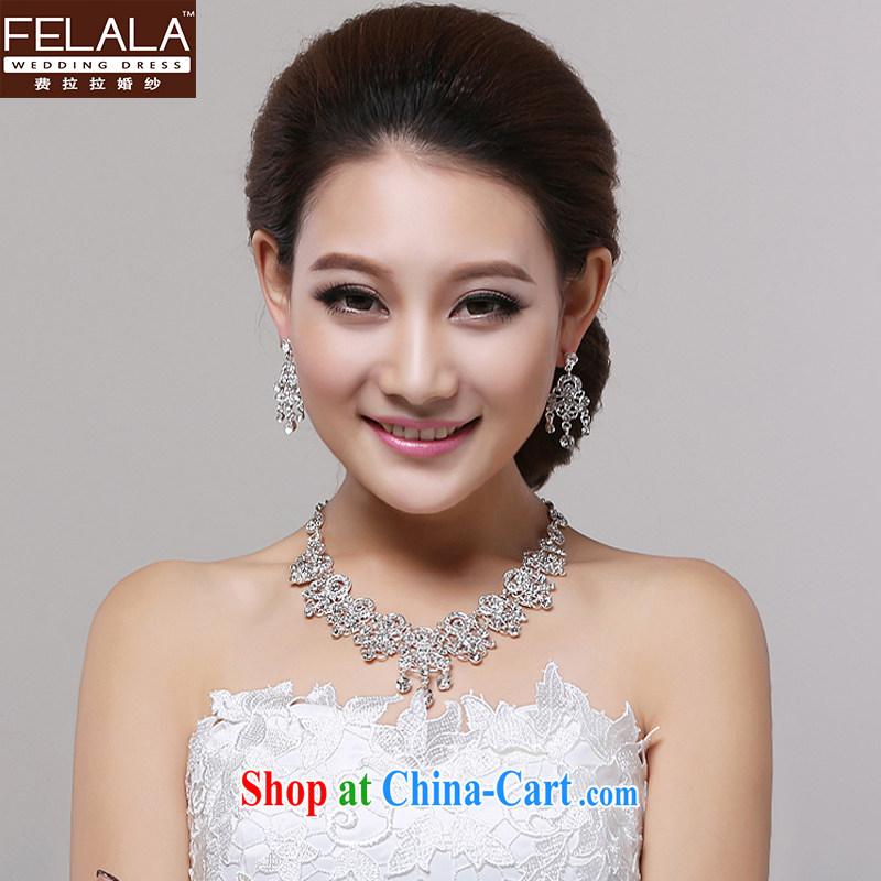 Ferrara 2015 new marriage wedding dresses necklaces earrings two-piece bridal wedding accessories jewelry, La wedding (FELALA), shopping on the Internet