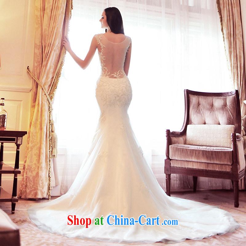 Garden 2015 new crowsfoot shoulder gauze wedding dresses spring-tail Korean lace S 21,491 tail 60 CM 173 - M
