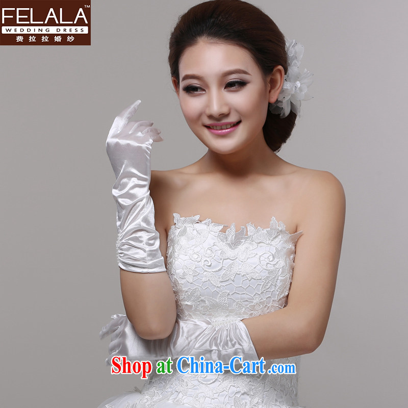 Ferrara lace Openwork white wedding gloves bridal gloves Long gloves wedding gloves Pearl nails