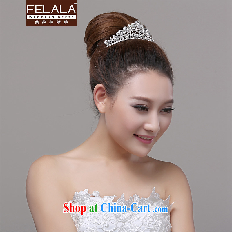 Ferrara flash water drilling water droplets large crown Korean bridal wedding hair accessories wedding styling and makeup mandatory
