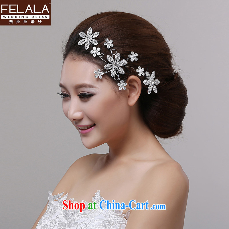Ferrara marriages snowflake silver headdress and take marriage-styler hair accessories wedding accessories products