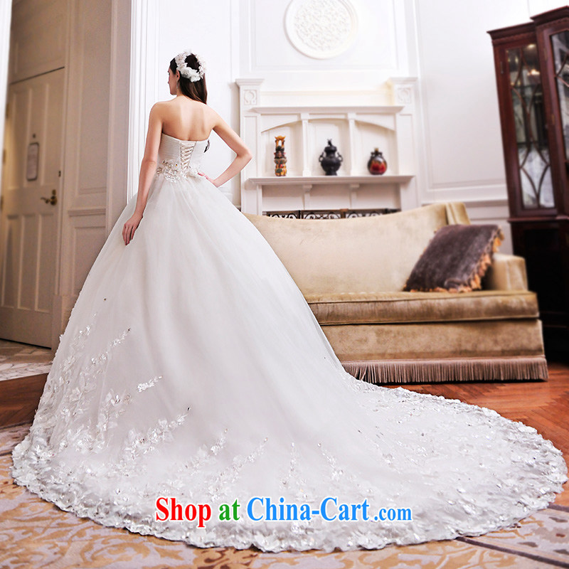 Garden 2015 new wedding dresses bare chest shaggy skirt waist seal tail lace wedding S 21,481 tail 100 CM tailored
