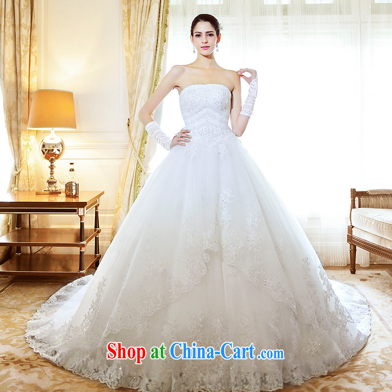 Garden 2015 new erase chest bridal wedding dresses lace Deluxe tail s 21,485 wedding spring, drag and drop the 100 CM tailored