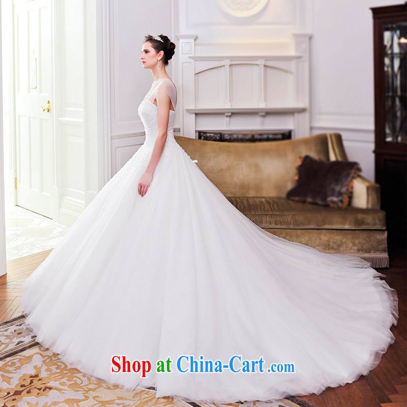 Spring 2015 new bride deluxe wedding dresses wedding wiped his chest single crystal shoulder strap tail wedding S 21,483 80 CM tailored