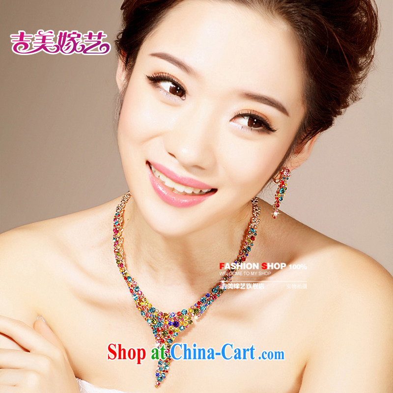 Bridal wedding dresses Accessories Kit Korean set link TL 0021 water drilling jewelry 2015 new marriage necklace color clips