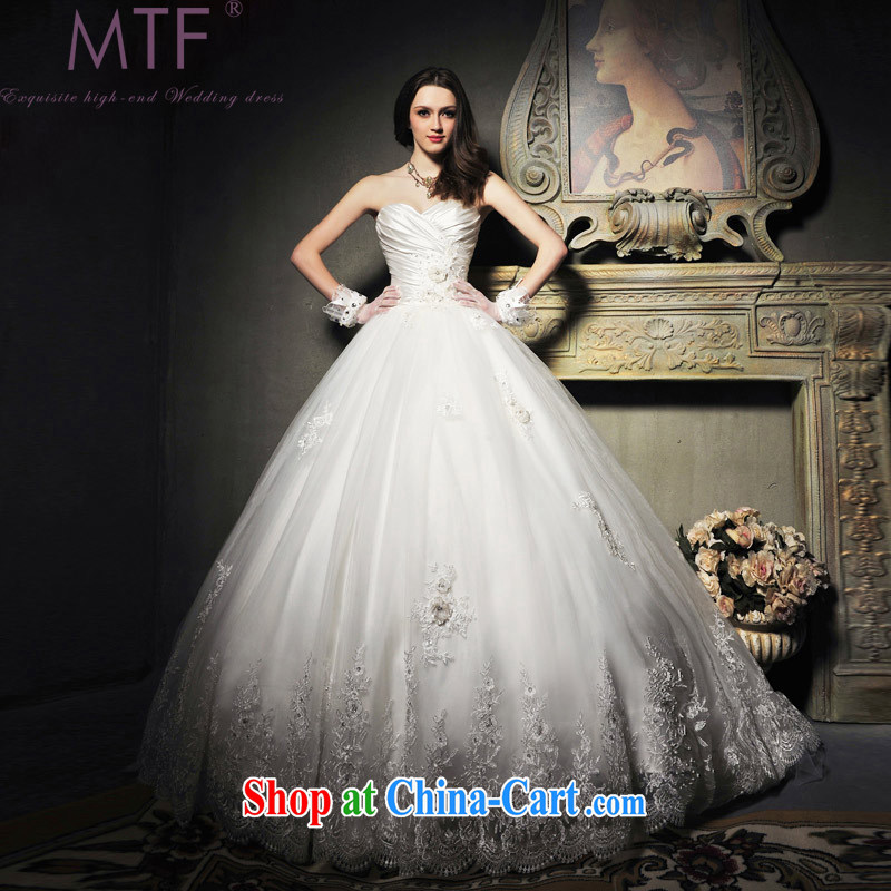 Garden 2015 summer new Korean-style Princess Mary Magdalene chest wedding dress elegant lace, Japan, and South Korea wedding dresses S 601 with paragraph 165 - M
