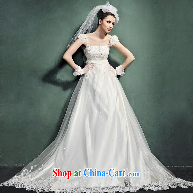 Spring 2015 new pregnant women wedding Korean version package shoulder high waist wedding Princess sense for Korean-style tail H 882 alignment, and tailored