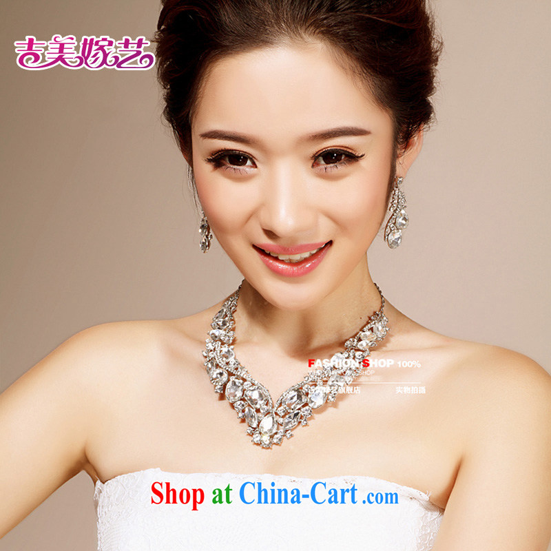 Bridal wedding dresses Accessories Kit Korean set link TL 6212 water drilling jewelry 2015 new marriage necklace color ear pin