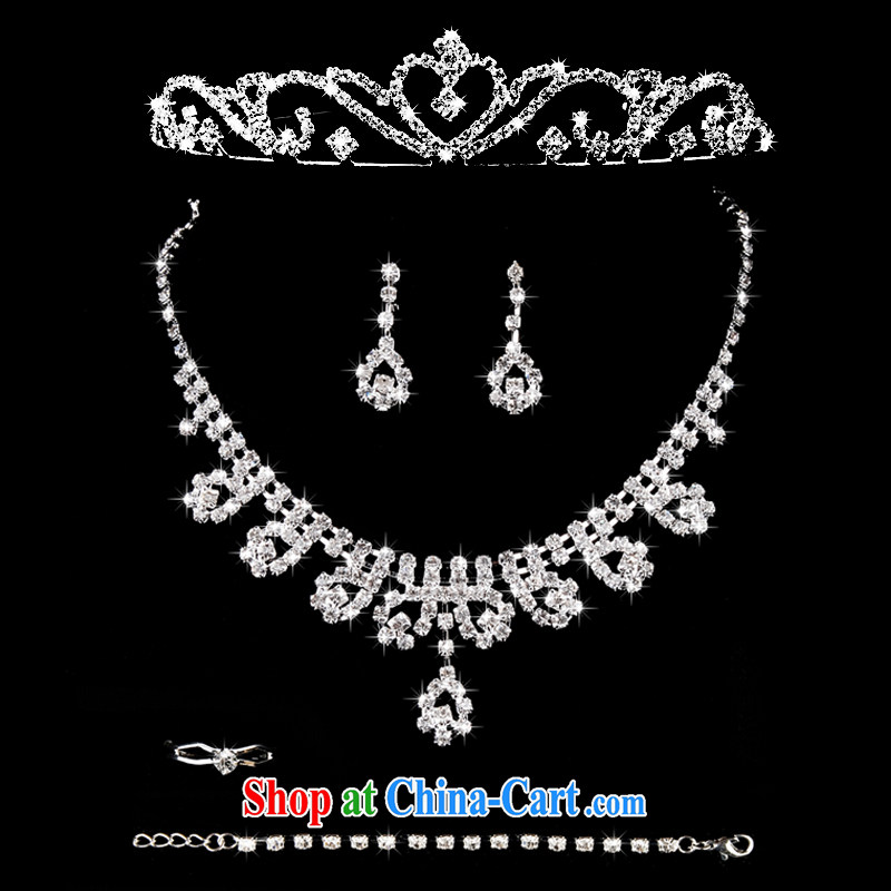 Mrs Alexa Lam go scot bridal jewelry Crown necklace set with Korean-style with water drill, clamp wedding dresses and jewelry 00,919