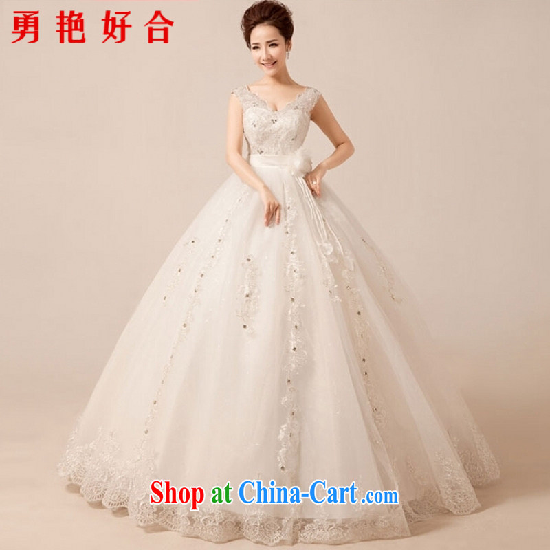 According to the Uganda kyung dong wedding dresses new 2015 shoulders Deep V lace wedding with graphics thin sweet Princess wedding white. Size