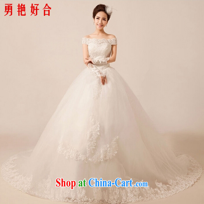 According to the Uganda kyung dong wedding dresses new 2015 luxury one shoulder lace-tail sweet Princess tie wedding white tail. size is not returned.