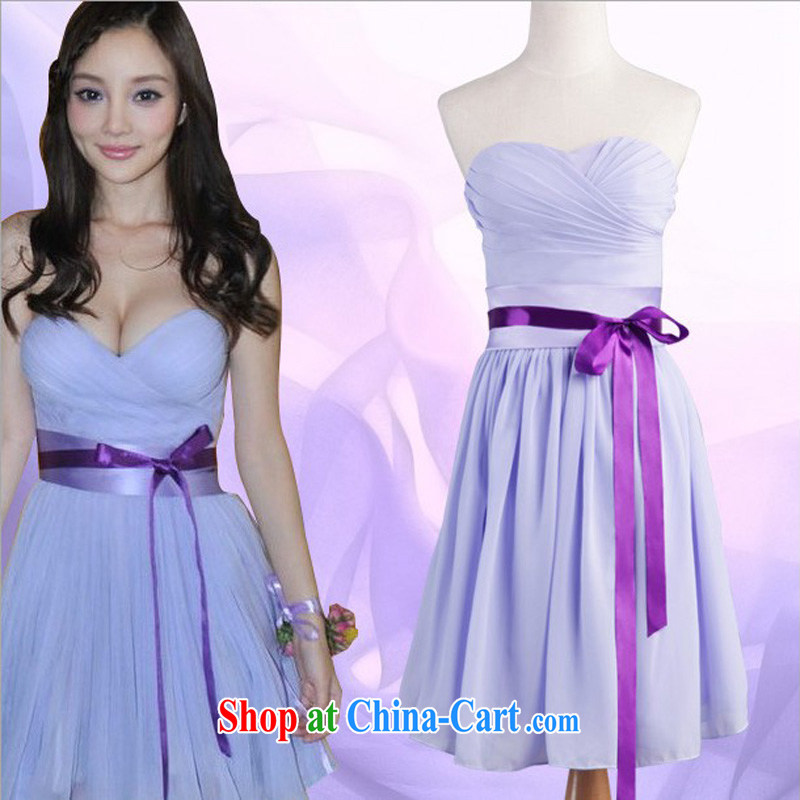 bridesmaid dress purple smears chest belt short bridesmaid dresses small DLF 121,023 lavender color zip S
