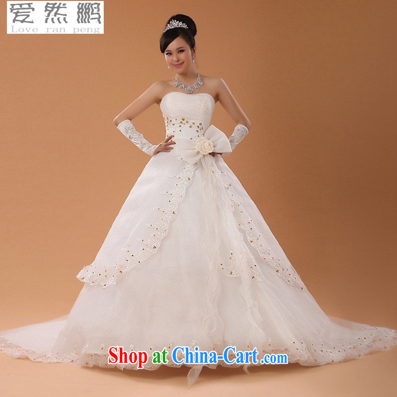 Love so Pang Chun summer bridal wedding dresses Korean wiped chest Princess new sweet Korean style with large tail marriage 89 tail M pieced
