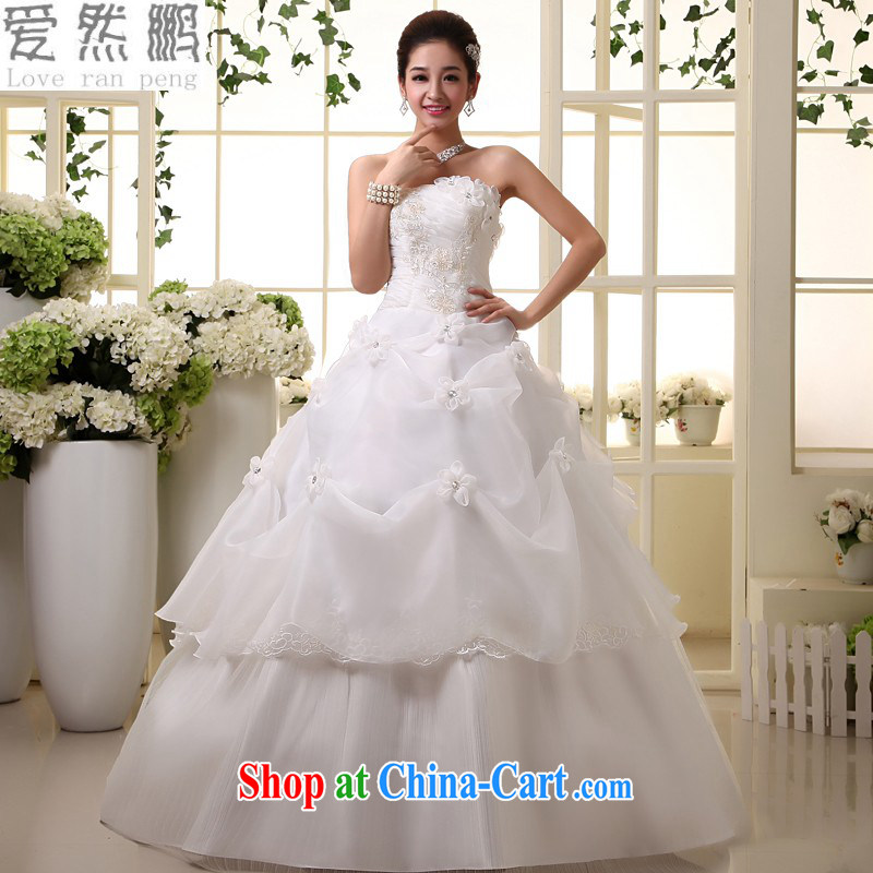 Korean wedding dresses, 2015 tied with cultivating graphics thin manual flowers sweet with bare chest wedding white M pieced