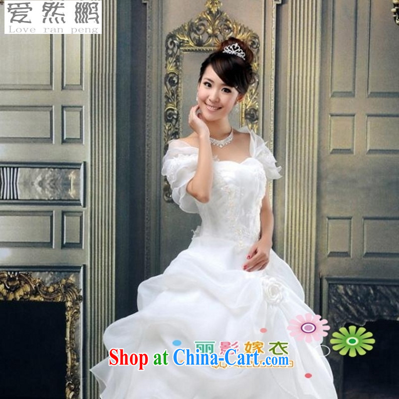 Love so Pang perfect bridal wedding dresses new 2015_Korean Princess_Small Package shoulder white L pieced