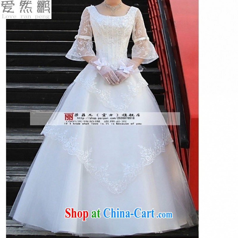 Love so Pang bridal wedding dresses 2015 fall and winter new Korean version with a shoulder bag in the cuff, thick mm video thin white customers to size will not be returned.