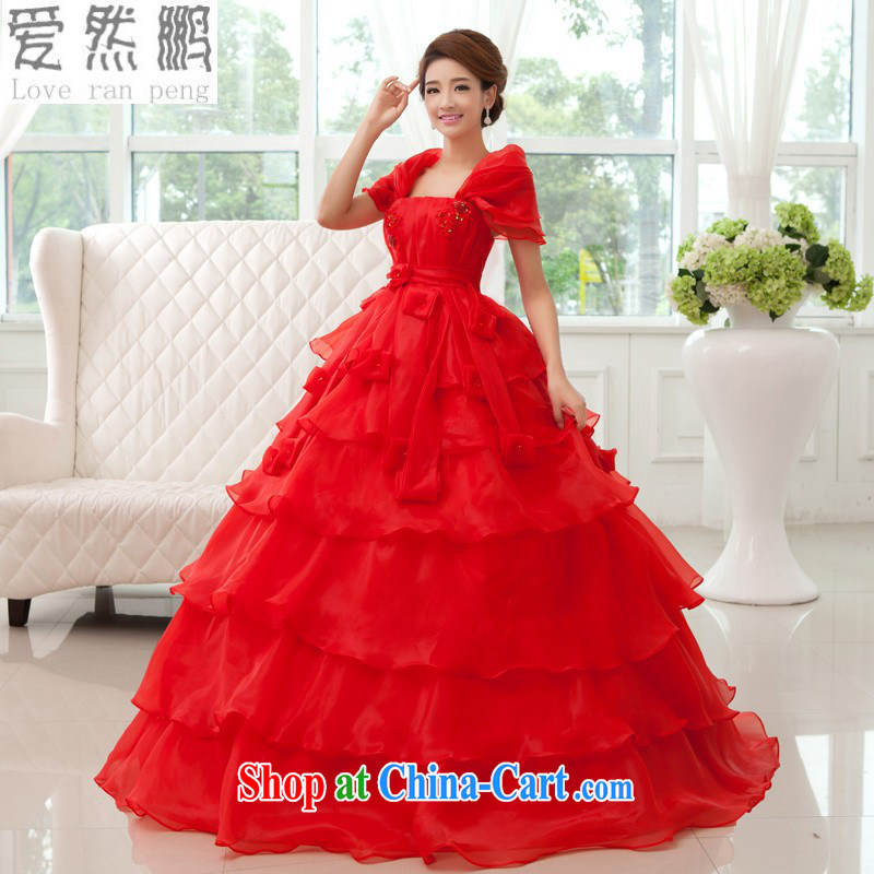 Love so Peng 2014 autumn and winter, is not a significant stomach high waist Korean cake skirt with graphics thin large code binding with pregnant women bridal wedding red customers to size up to be returned.