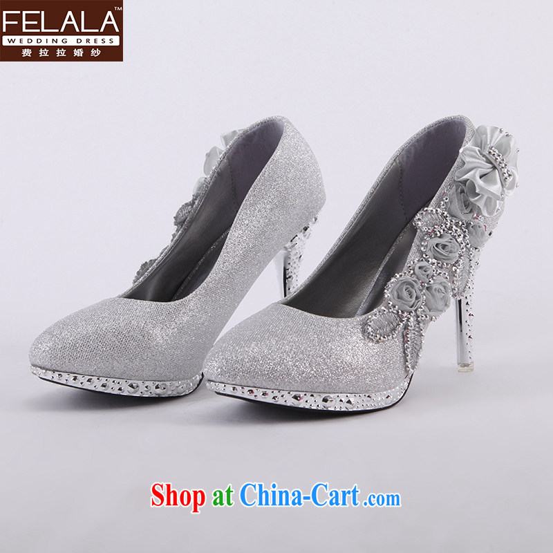 Ferrara marriages wedding shoes wedding dresses wedding accessories silver with floral accessories winter New Products 36