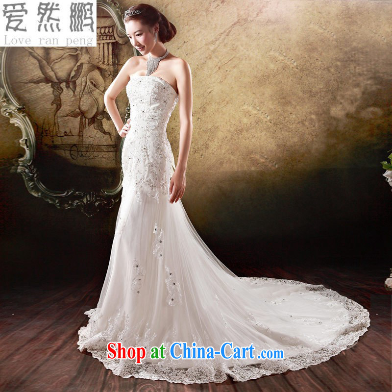 Love so Pang bridal wedding dresses small-tail graphics thin Korean Princess Mary Magdalene hunsha chest in short about new 878 white customers to size the Do not returned.