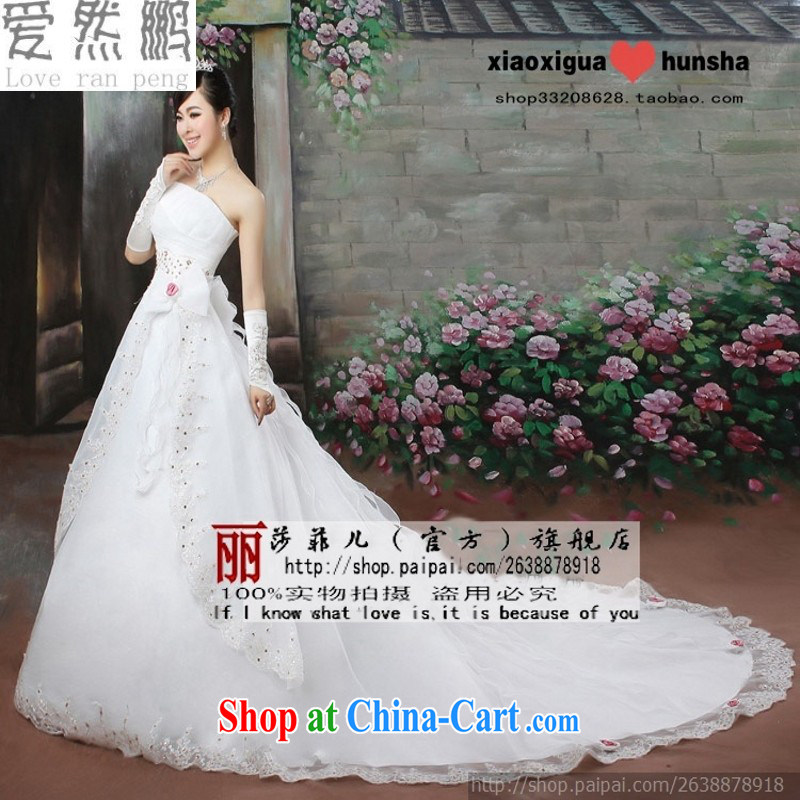 Love so Pang bubble yarn tail Korean Wedding Video thin Korean version of the new hot selling Princess tail wedding white customer size will not be returned.