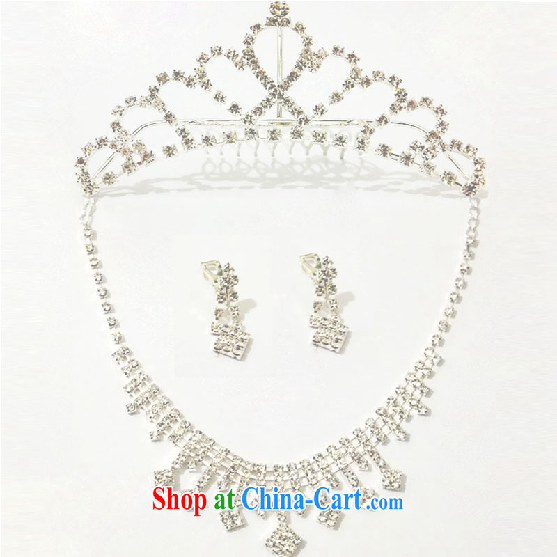 The United States, wedding dresses with Korean bridal Crown necklace earrings wedding jewelry 3 Piece Set 2015 New E 556