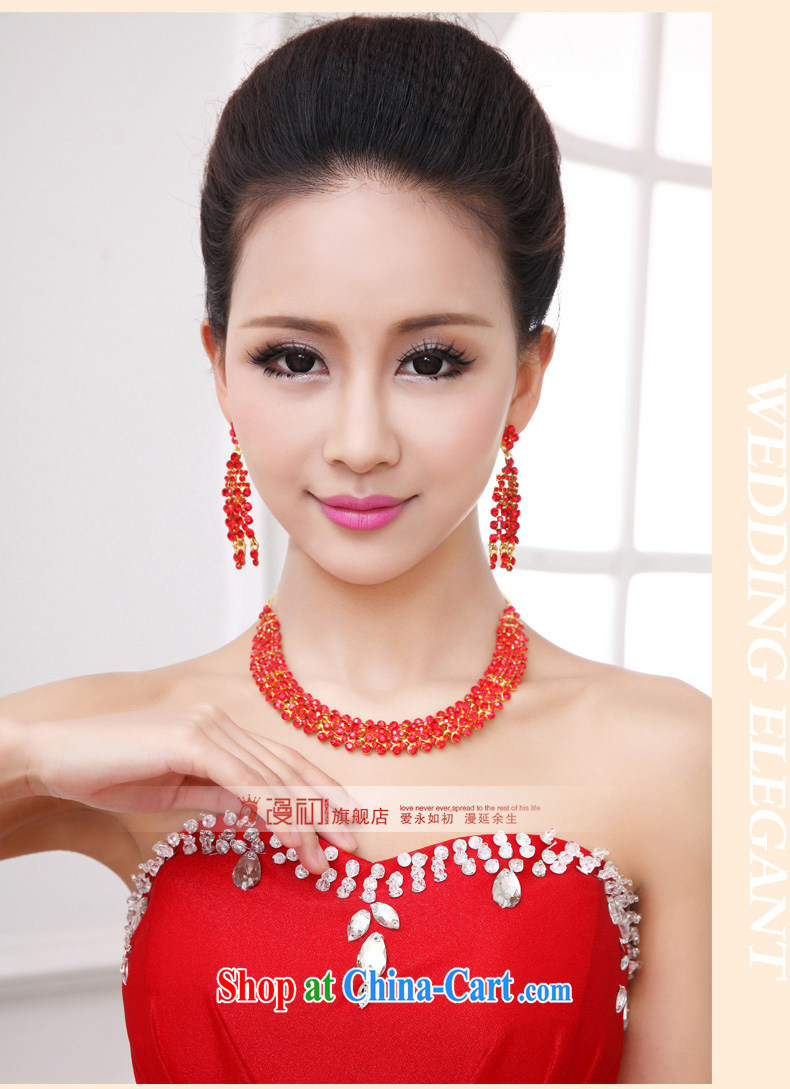 Early spread Korean bridal jewelry Kit red wedding dress wedding accessories bridal necklace water drilling female Kit red pictures, price, brand platters! Elections are good character, the national distribution, so why buy now enjoy more preferential! Health