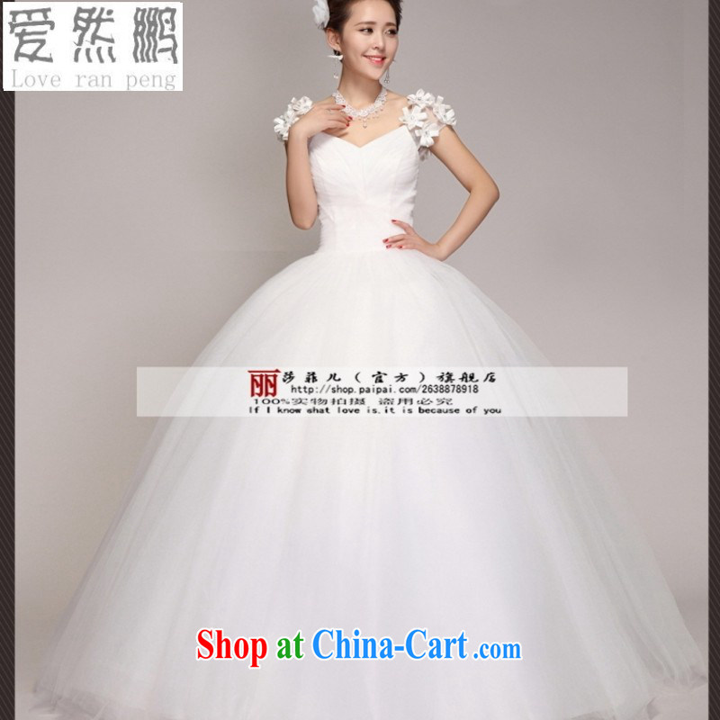 Love so Peng 2014 new Korean version the Field shoulder bag shoulder alignment to Princess bride's wedding dresses the code white customers to size the Do not be returned.