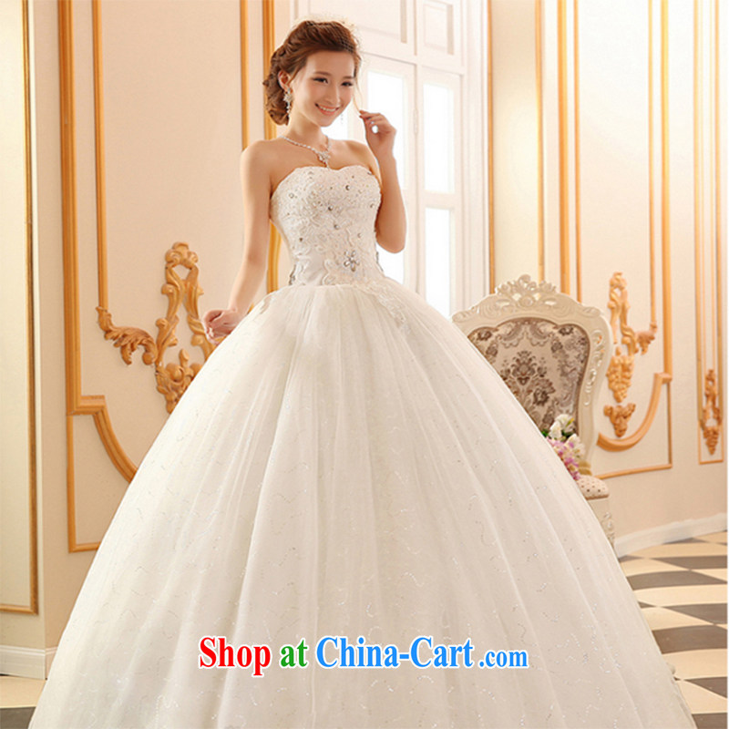 Qi wei summer 2015 new wedding dresses bride's bare chest wedding with wedding summer lace wedding, white tie wedding ivory white pre-sale 7 Day Shipping XL