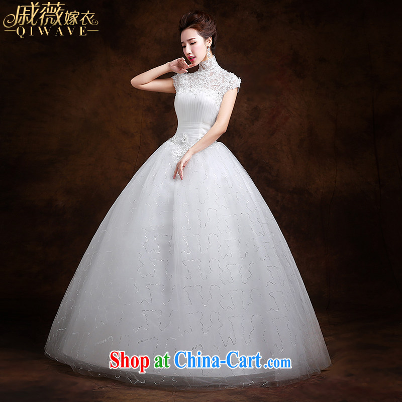 Qi wei summer 2015 Korean wedding dresses bridal wedding wedding dress white package shoulder with a shoulder strap shaggy dress code the beauty graphics thin dress girls ivory white S