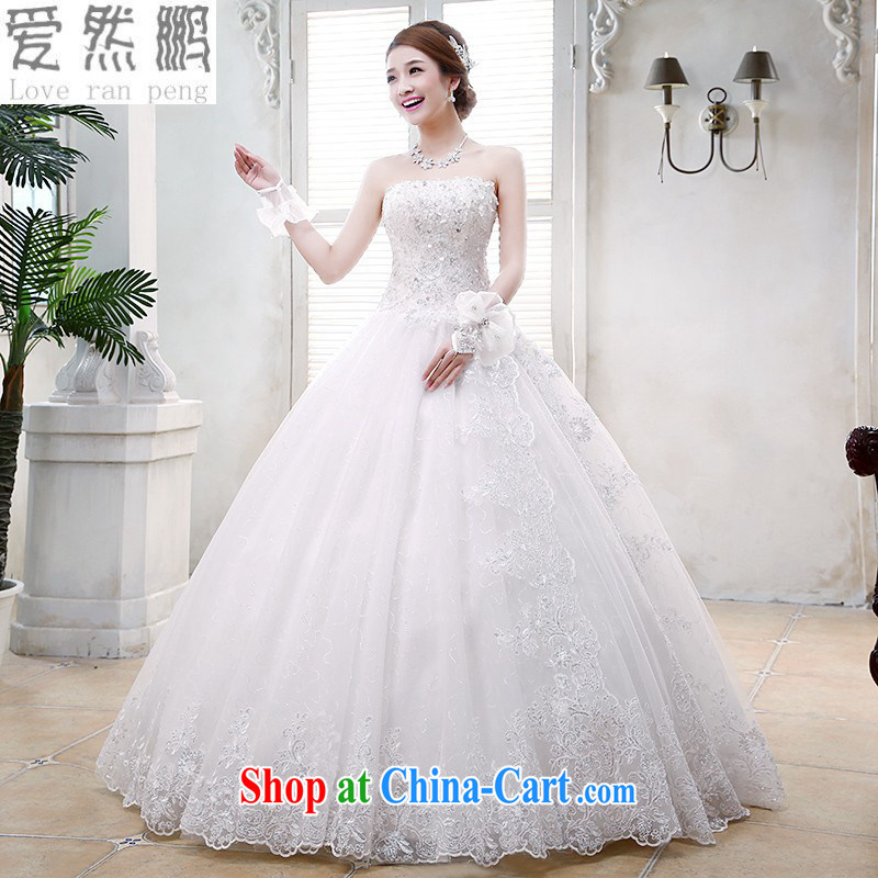 Love so Peng 2014 new Korean Princess wiped his chest, wedding dresses bridal lace retro white binding with stylish water drill white customers for this size will not be returned.