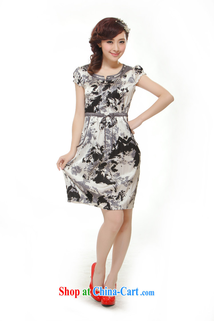 Slim li know summer 2015 new high-end heavy silk pocket, with improved modern cheongsam dress QR 512 gray XXL pictures, price, brand platters! Elections are good character, the national distribution, so why buy now enjoy more preferential! Health