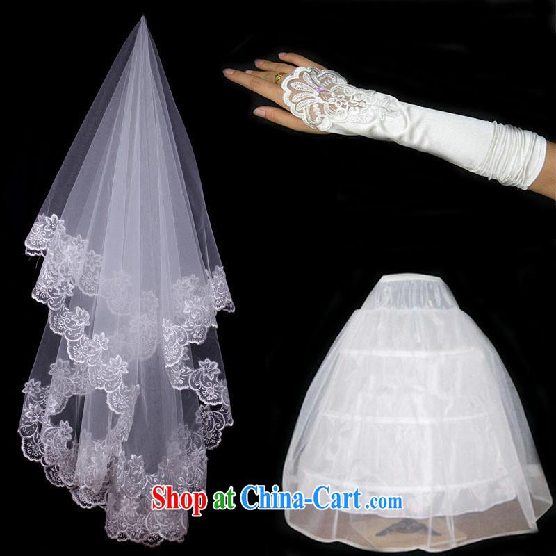 wedding dresses wedding mandatory bridal flowers married the mandatory perfect flowers married 3-Piece head dress party gloves A 6