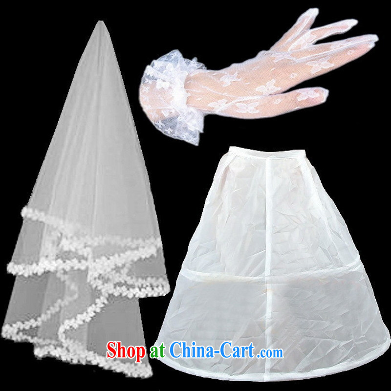 New wedding dresses 3 Piece Accessory head yarn gloves the spreader 3 Piece Combination price discount