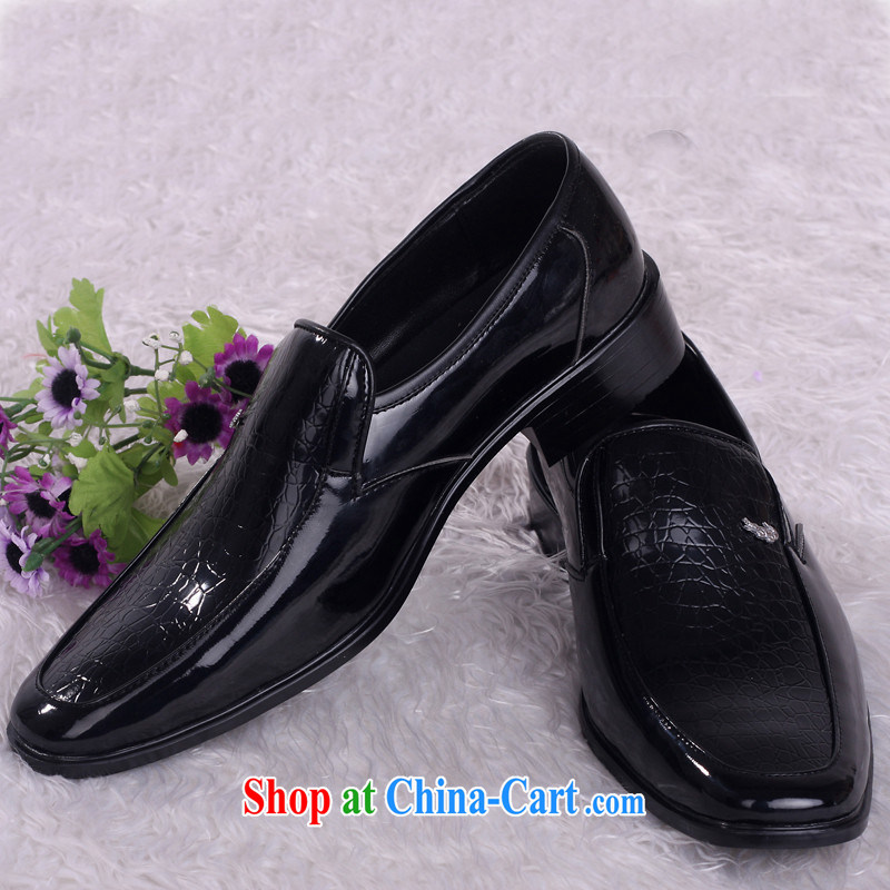 Wedding shoes men shoes marriage groom shoes shadow floor marriage shoes black shoes HX 001 black 44
