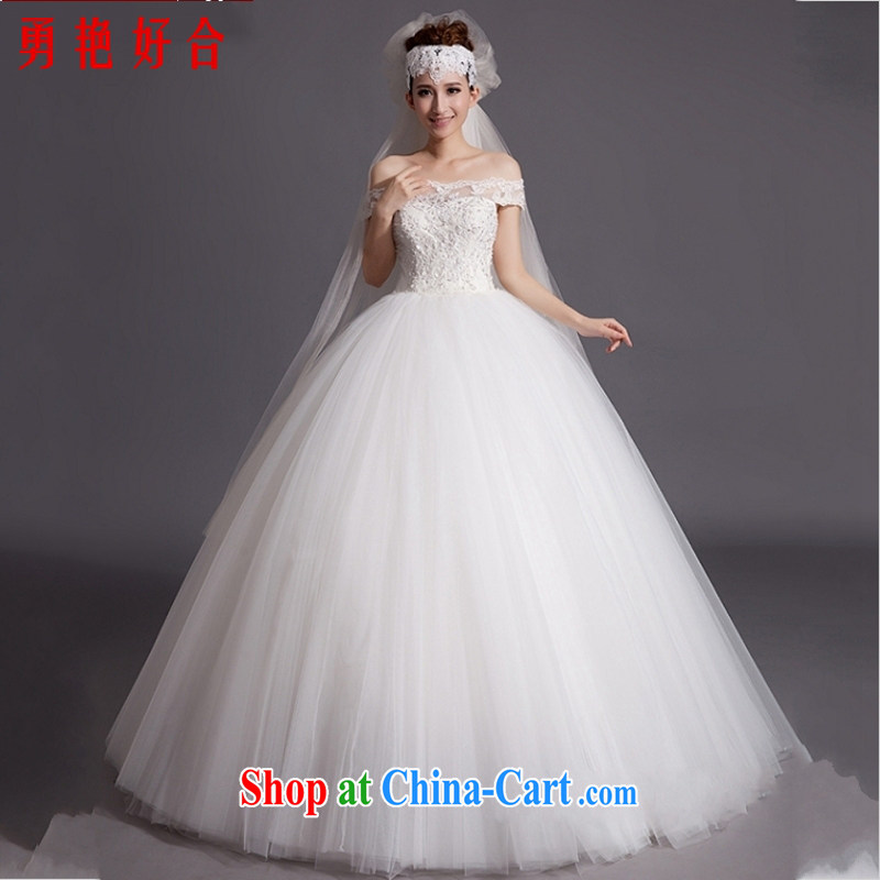 Yong-yan and bridal 2015 wedding dresses new Korean version field shoulder trendy, pregnant women retro with a purely manual wedding white. size is not returned.