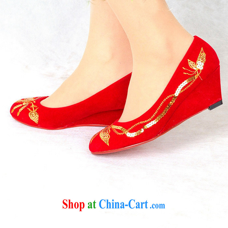 Bridal wedding shoes wedding shoes shoes dresses red wedding shoes bridal shoes and 99,810 red 9, love so Pang, shopping on the Internet