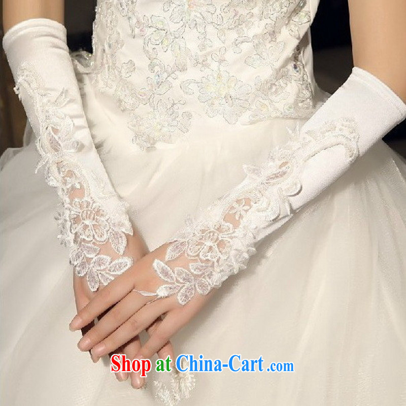 New Special Offers bridal gloves wedding accessories no means the terrace embroidered satin gloves wedding dresses gloves white