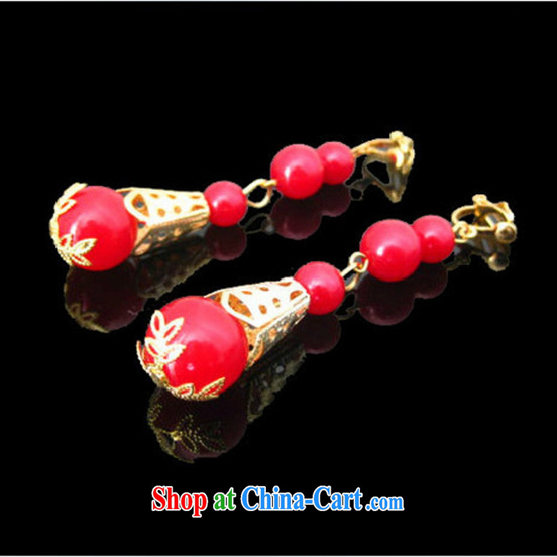 Bridal jewelry show reel with Phoenix and accessories Ear Ornaments Chinese red agate earrings cheongsam dress with ornaments and ornaments