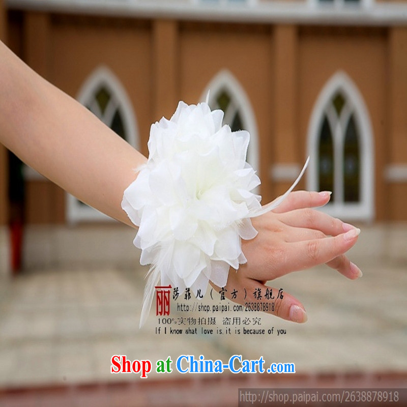 wedding photo building performances choral bridal bridesmaid/bride's chest flower wrist flower head will be 3 with a white new
