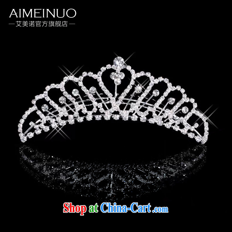 The US and the bride's wedding dresses Crown headdress bridal crown and ornaments wedding accessories hair accessories G 06 white
