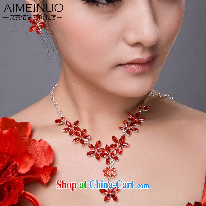 The United States, wedding dresses accessories bridal jewelry set link marriage jewelry new links with two-piece e 019, the US (Imeinuo), shopping on the Internet