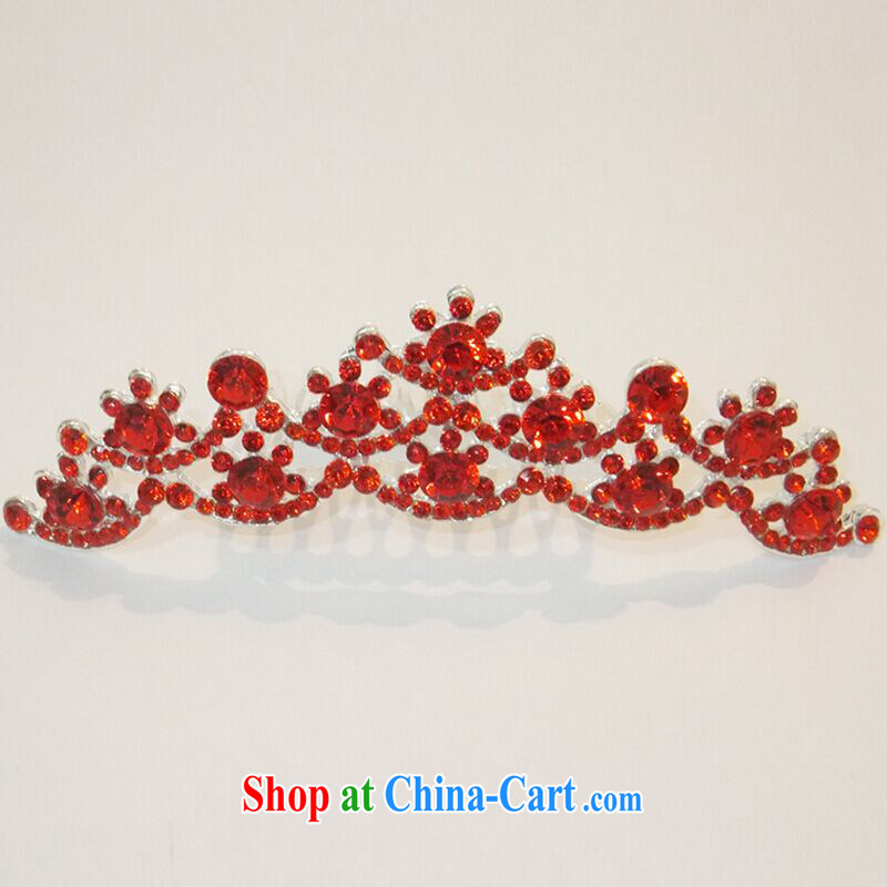 The United States and the red head-dress wedding dresses accessories Korean import wood drill flash Crown bridal crown the yoke marriage accessories G - 092 red