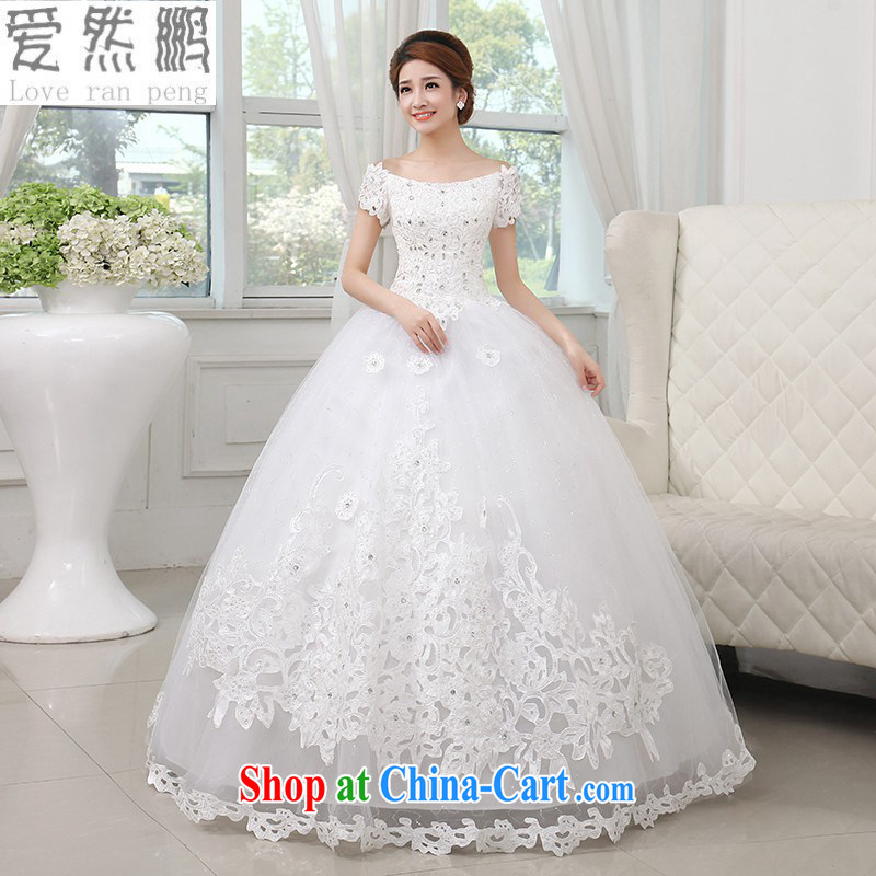 Love so Peng 2015 new Princess one shoulder wedding dresses and the Korean version water drilling video thin alignment to bind with the code will be done in M pieced