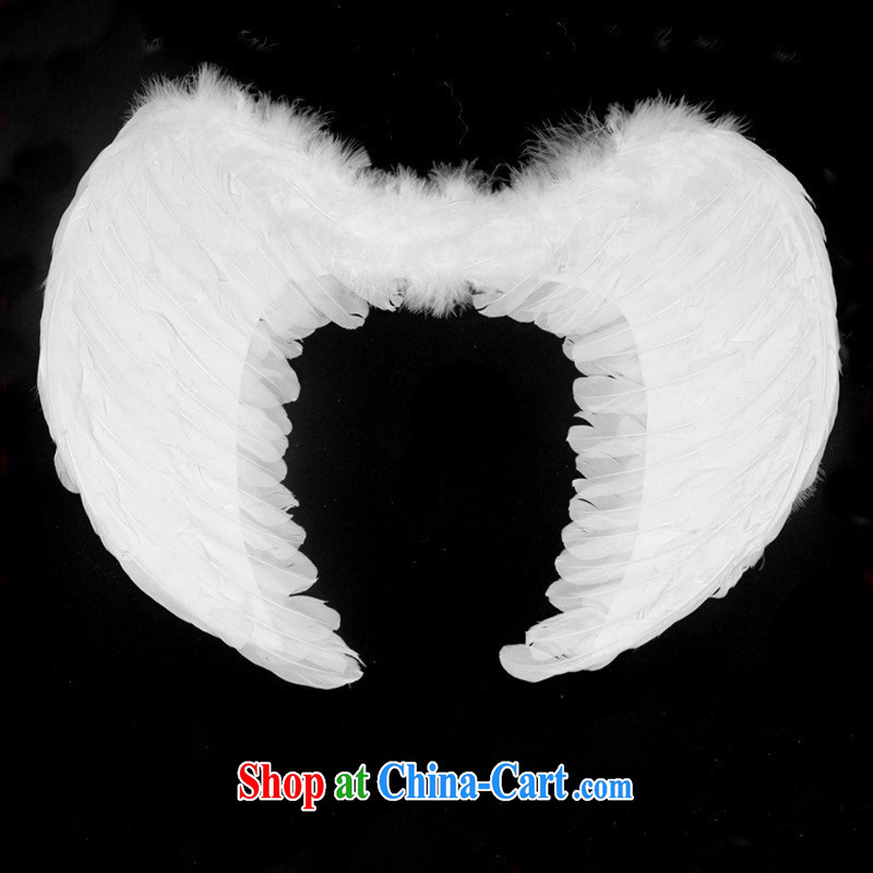 special children's decor Angel wings feather wings wedding children's entertainment wings white wings small S
