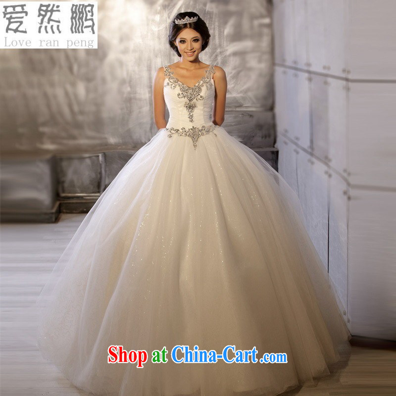 Love so Peng-new Korean version of the new, luxurious double-shoulder manually aligned to bridal wedding dresses custom HS 6002 customers to size the Do not be returned.