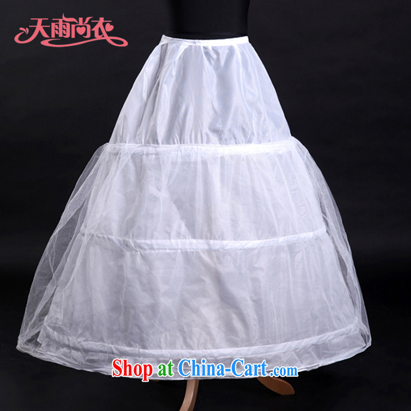 Rain is still clothing bridal wedding dress wedding parties wedding 3 bones yarn petticoat wedding accessories, with shaggy skirt stays Q 1 white